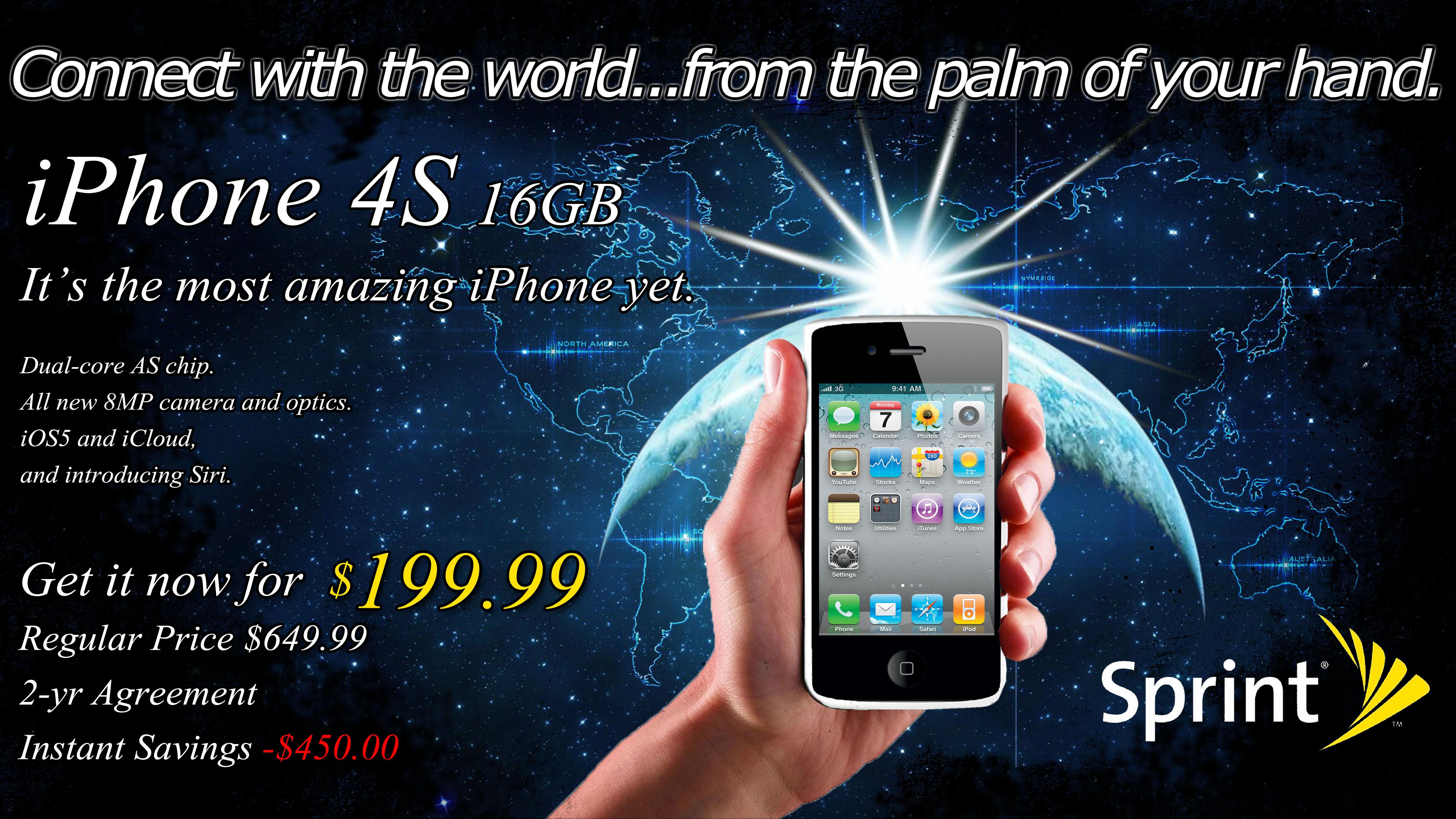 Sprint Iphone Advertisement Corey Van Zandt