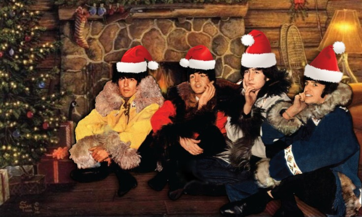 beatles xmas card