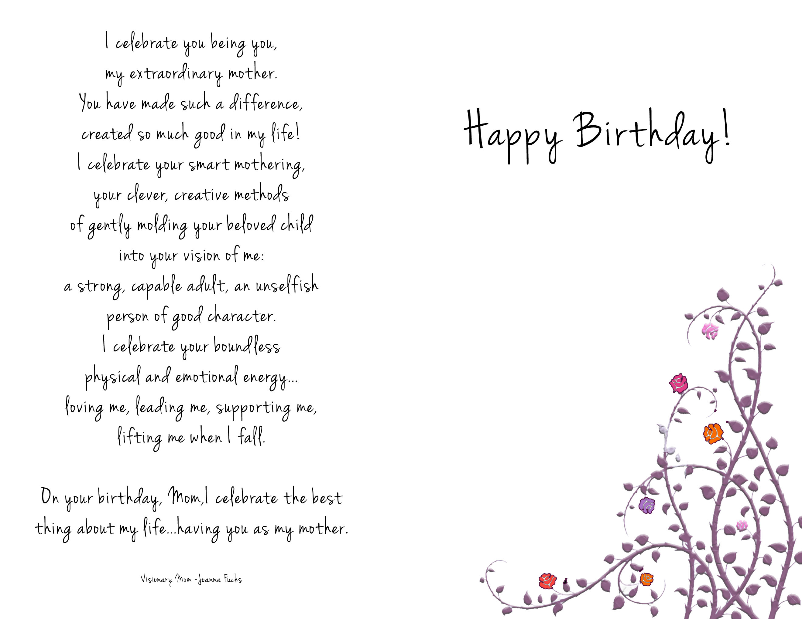 momcardbackjpg 2640 2040 HAPPY BIRTHDAY 80 year – Online Greeting Card Template