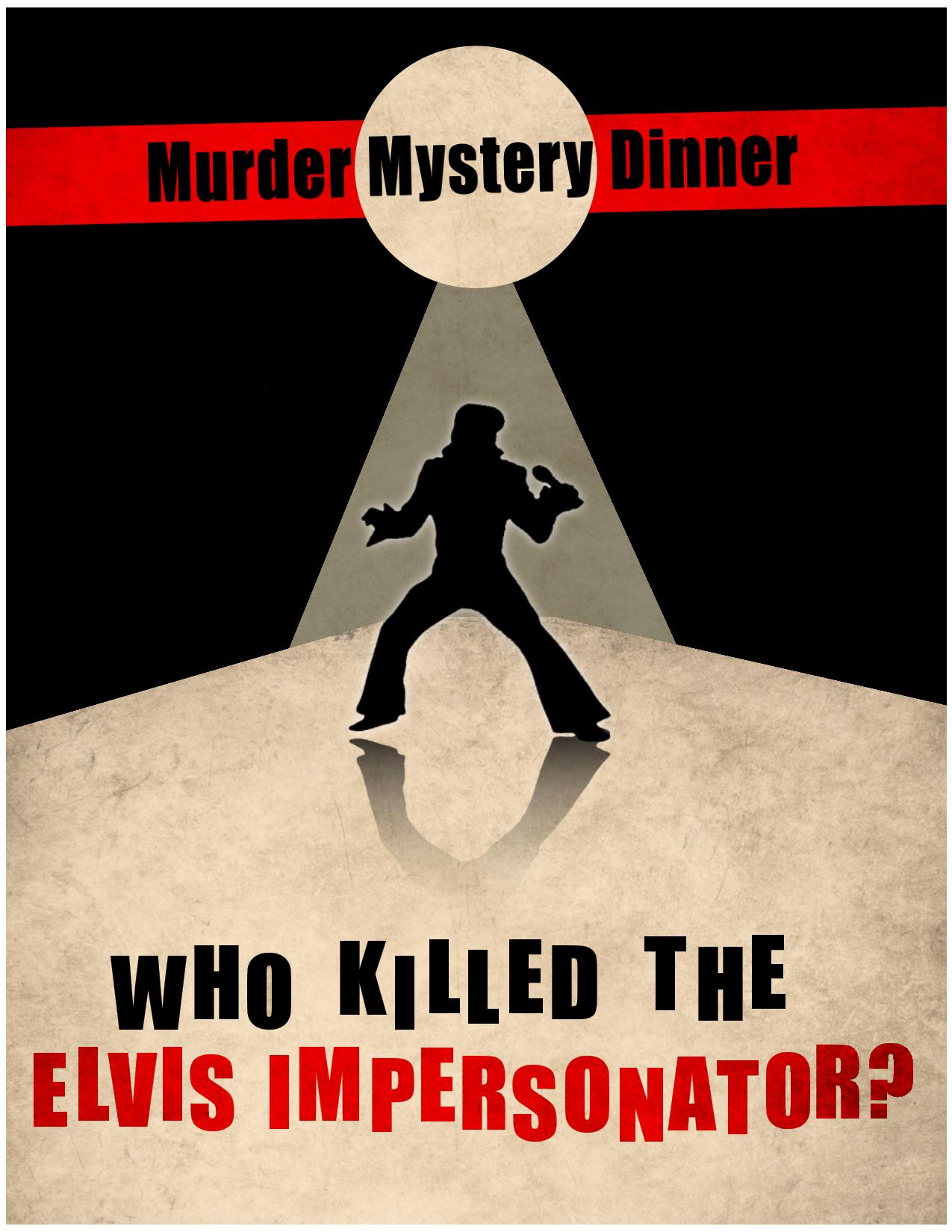 murder mystery poster  flyer  playbill  ticket  u2013 corey van