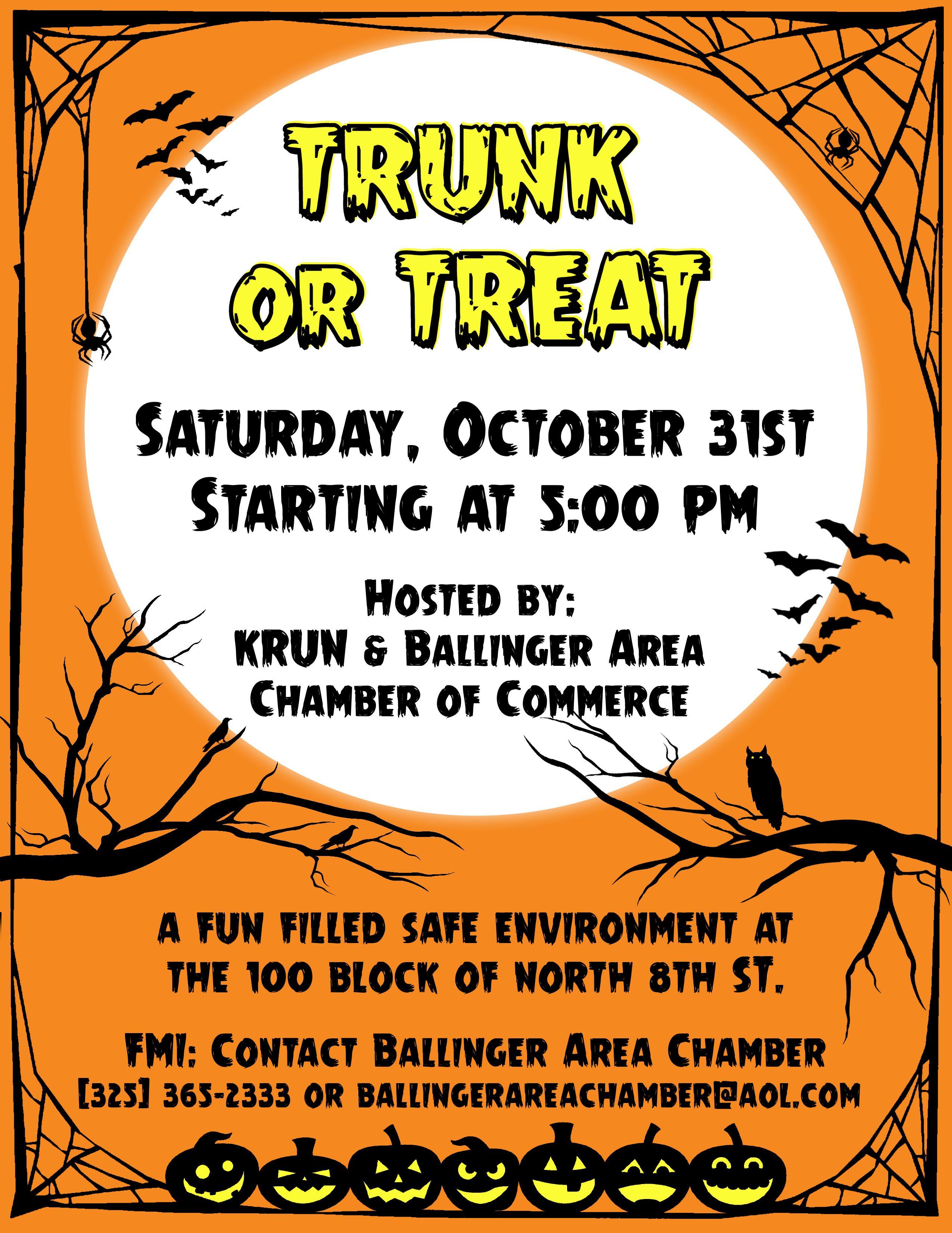 trunk or treat flyer corey van zandt