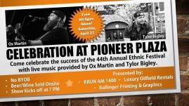 Celebration at Pioneer Plaza