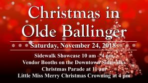 Christmas in Olde Ballinger