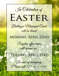 Easter 2018 Court