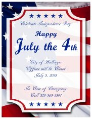 July the 4th 2015