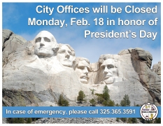 Presidents' Day 2019