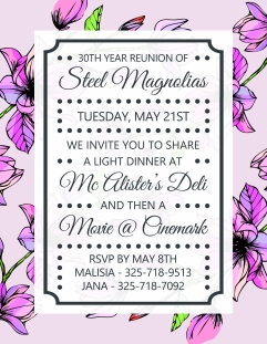 Steel Magnolia Invite